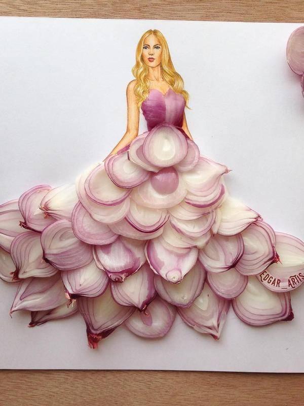 Cantik 15 Sketsa Desain Gaun Yang Kreatif Dan Unik Banget