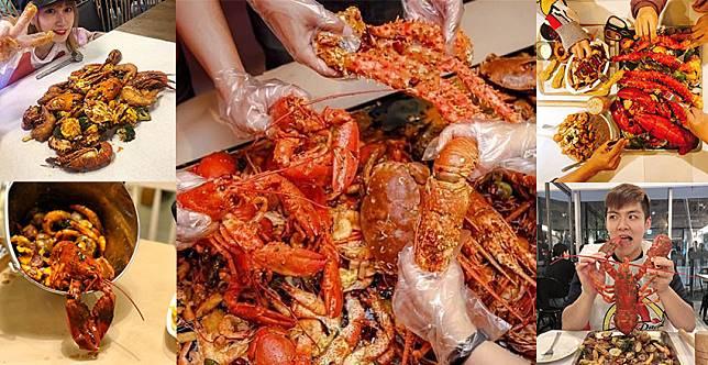 好吃到連手指都不放過~鹹香麻辣抓海鮮,龍蝦比臉大太狂啦