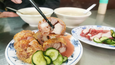 (雙連捷運站)台北古早味小吃,傳承百年的老店-永樂雞捲大王,超厚實雞捲,大稻埕傳統古早味小吃,近迪化街永樂市場