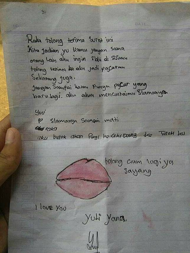 Beredar Surat Cinta Anak Sd Minta Cium Bikin Heboh Sekaligus