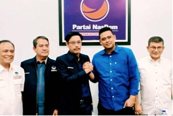 Menantu Presiden Jokowi, Bobby Nasution saat berkunjung ke kantor DPW Partai NasDem Sumut di Jalan Mongosidi Medan pada Selasa (10/9/2019)(Dok: Humas Nasdem)  Artikel ini telah tayang di Kompas.com dengan judul