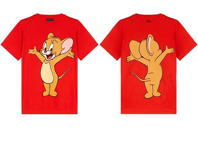 ETRO × TOM AND JERRY 紅色短袖Tee(互聯網)