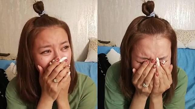 ▲李妍憬在直播中數度崩潰痛哭,網友看了不忍。(圖/李妍憬臉書)