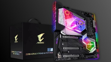 全覆式 RGB 水冷頭延伸至晶片組,GIGABYTE Z390 AORUS XTREME WATERFORCE 主機板現身
