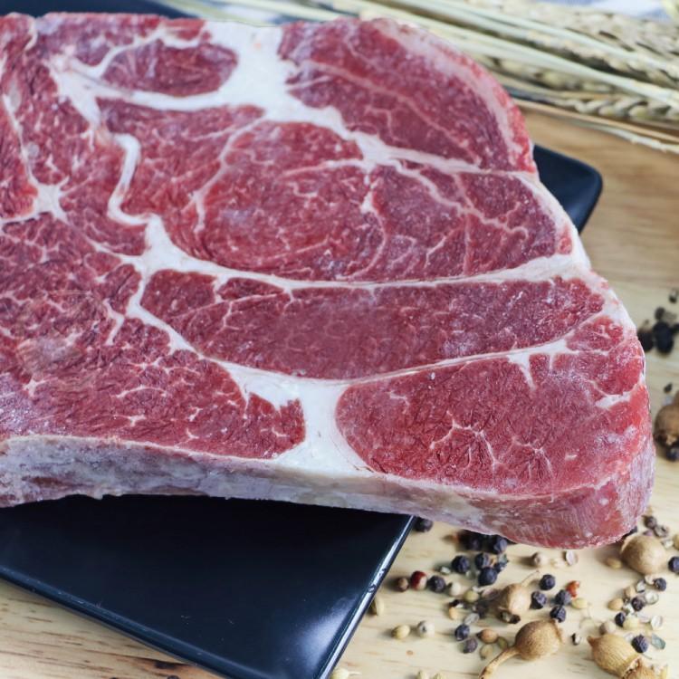 【599免運】美國安格斯雪花沙朗牛排~比臉大1片組(450公克/1片)
