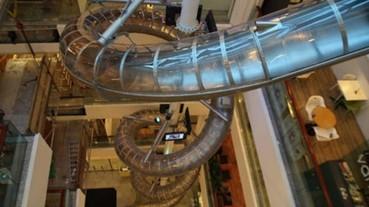 世界紀錄的百貨公司溜滑梯 不逛街也要玩一下!