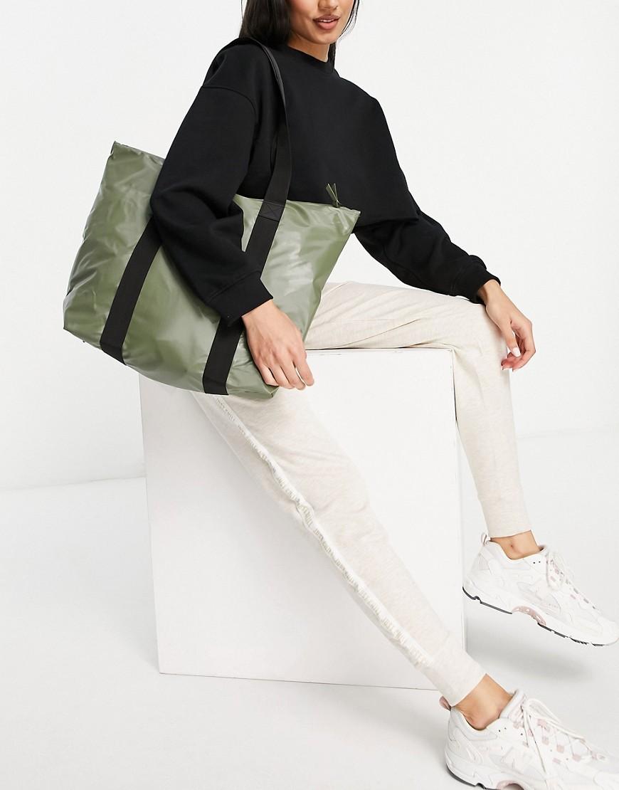 Rains 1225 rush waterproof tote bag-Green