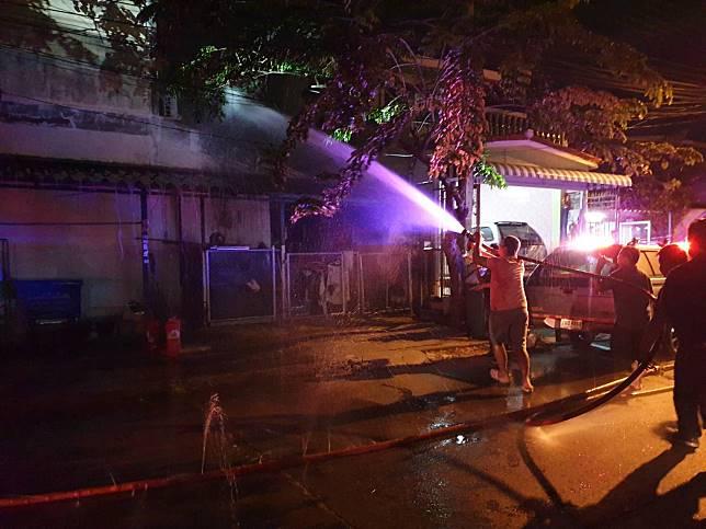 สรุปเหตุเพลิงไหม้บ้านเรือนประชาชน ซอยเคหะร่มเกล้า 24 เขตลาดกระบัง เมื่อเวลา 19.34น.