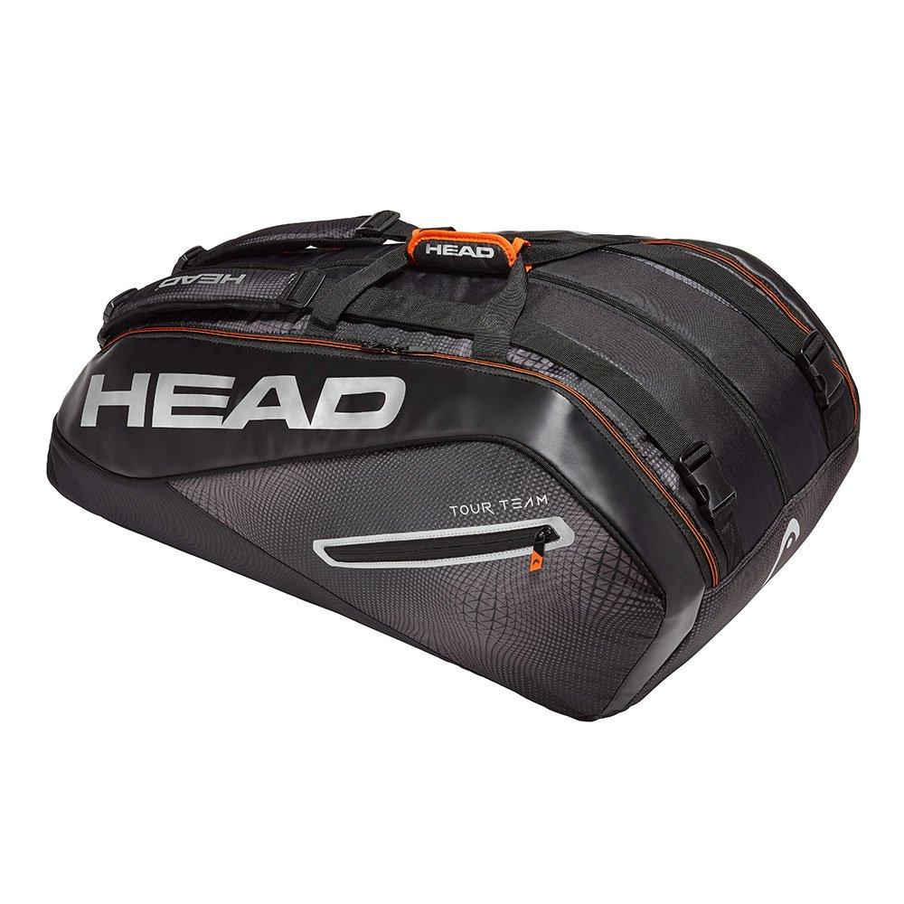 HEAD奧地利 Tour Team Monstercombi 12支裝球拍袋-黑銀 283109