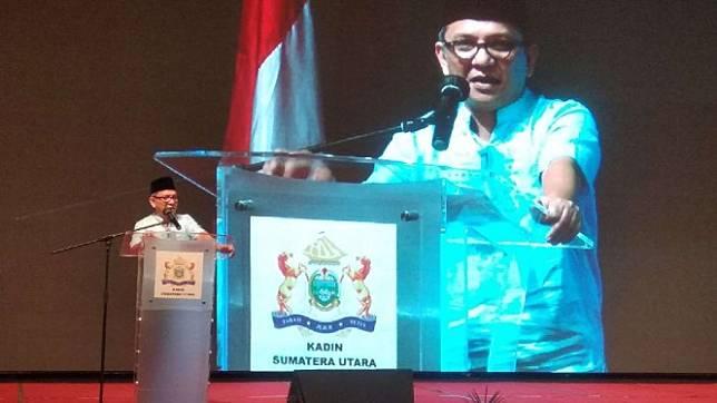 Ketua Kamar Dagang dan Industri (Kadin) Provinsi Sumatera Utara,? Ivan Batubara.