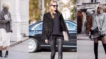 天冷只想穿暖呼呼的毛衣,一周七天怎麼穿出不同造型?