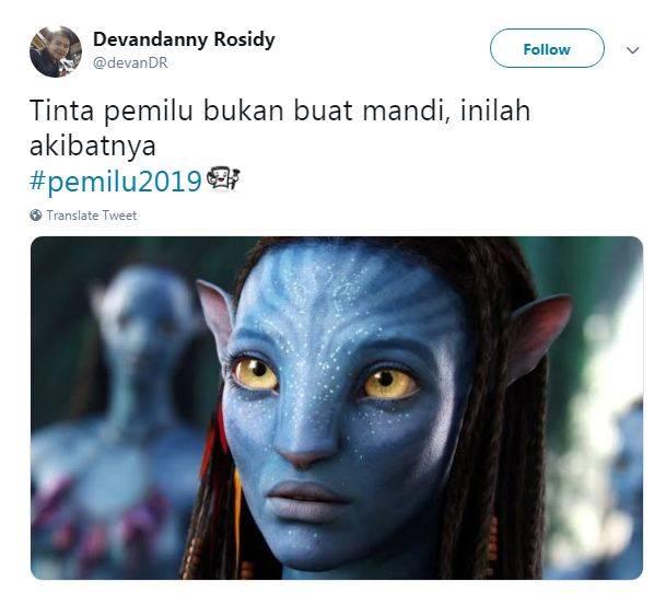 gambar 1 - meme tinta biru pemilu avatar
