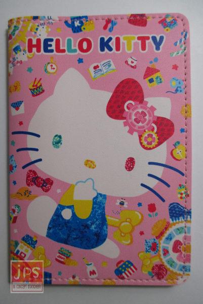 Hello Kitty 凱蒂貓 皮質護照包卡套 粉底 KRT-963695