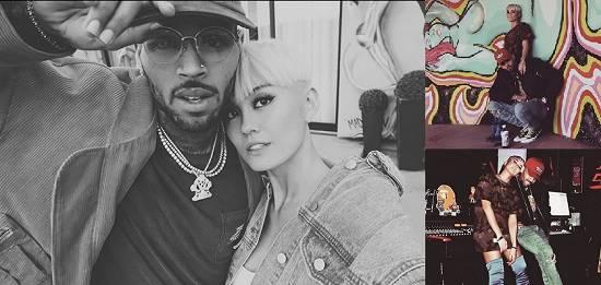 (Kebersamaan Agnez Mo dan Chris Brown. Foto: Instagram/@agnezmo)