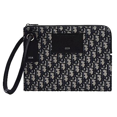 ★品牌經典SADDLE系列★OBLIQUE緹花布打造★輕薄實用手拿包,經典時尚