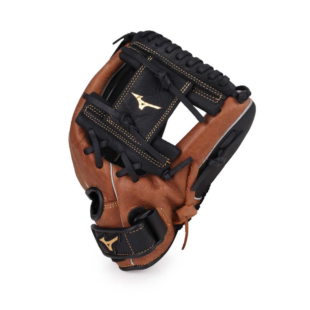 MIZUNO 少年用手套-右投 棒球 壘球 美津濃 咖啡黑 F