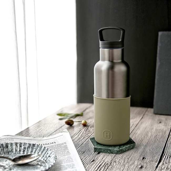 HYDY 軍綠-鈦灰瓶 時尚保溫水瓶 480ml
