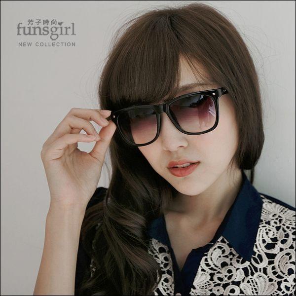 太陽眼鏡-抗UV400大方鏡框漸層太陽眼鏡墨鏡
