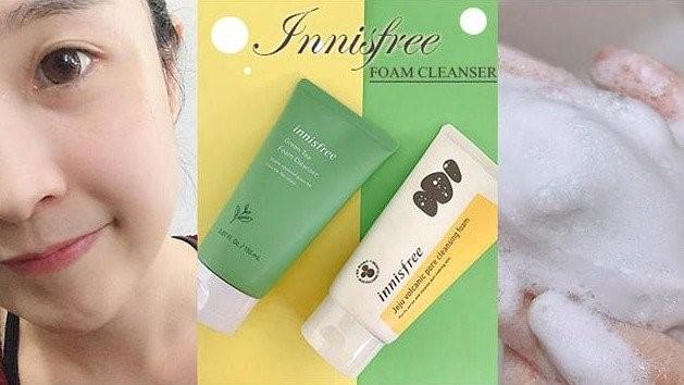innisfree~按摩泡沫洗面乳/綠茶純淨溫和卸妝水