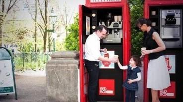 不甘被淘汰!英國指標「紅色電話亭」改裝成咖啡廳、圖書館