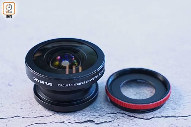 相機可配置另購的魚眼鏡頭FCON-T02及接環CLA-T01,營造魚眼變形效果。(方偉堅攝)