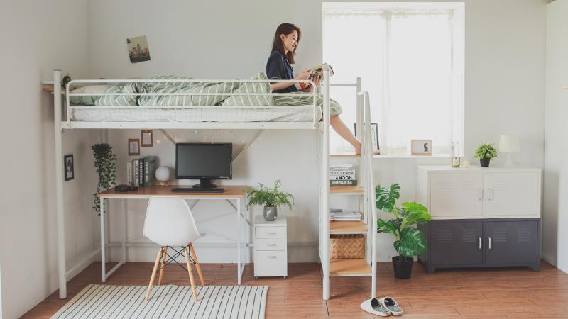 卡爾樓梯設計高架鐵床 完美主義居家Peachylife