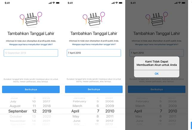 Instagram Akan Menanyakan Tanggal Lahir Pengguna Saat Membuat Akun