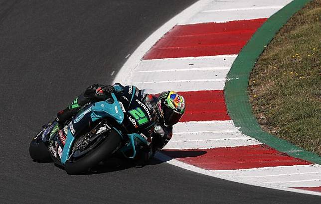 Pembalap Petronas Yamaha SRT Franco Morbidelli. REUTERS / Pedro Nunes