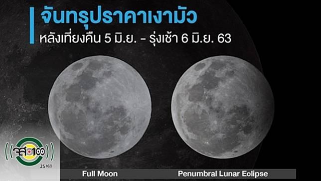 เตรียมชม #จันทรุปราคาเงามัว หลังเที่ยงคืนวันที่ 5 มิ.ย. เข้าสู่รุ่งเช้าวันที่ 6 มิ.ย. 2563