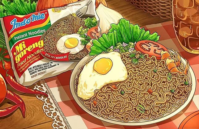 Makanan khas Indonesia versi Anime