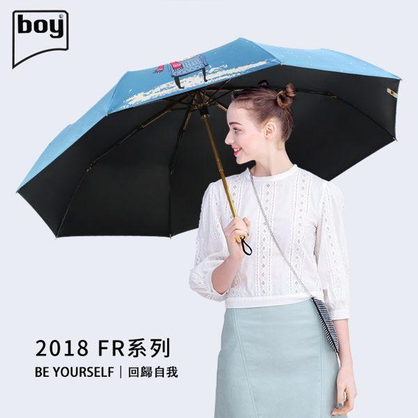 【德國boy】三折超輕防曬防潑水晴雨傘 (暖冬)