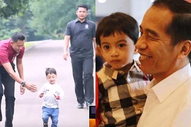 Presiden Jokowi dan cucu tercinta, Jan Ethes