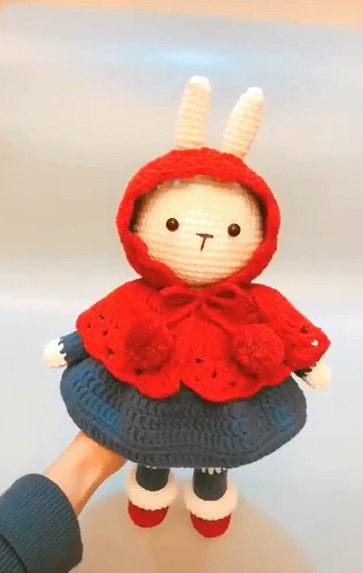 鉤針玩偶毛線手工DIY奶棉故宮看雪賞梅兔快手網紅兔禮品材料