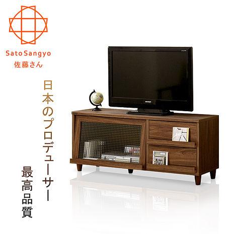 【Sato】NEFLAS時間旅人二抽一門電視收納櫃‧幅120cm