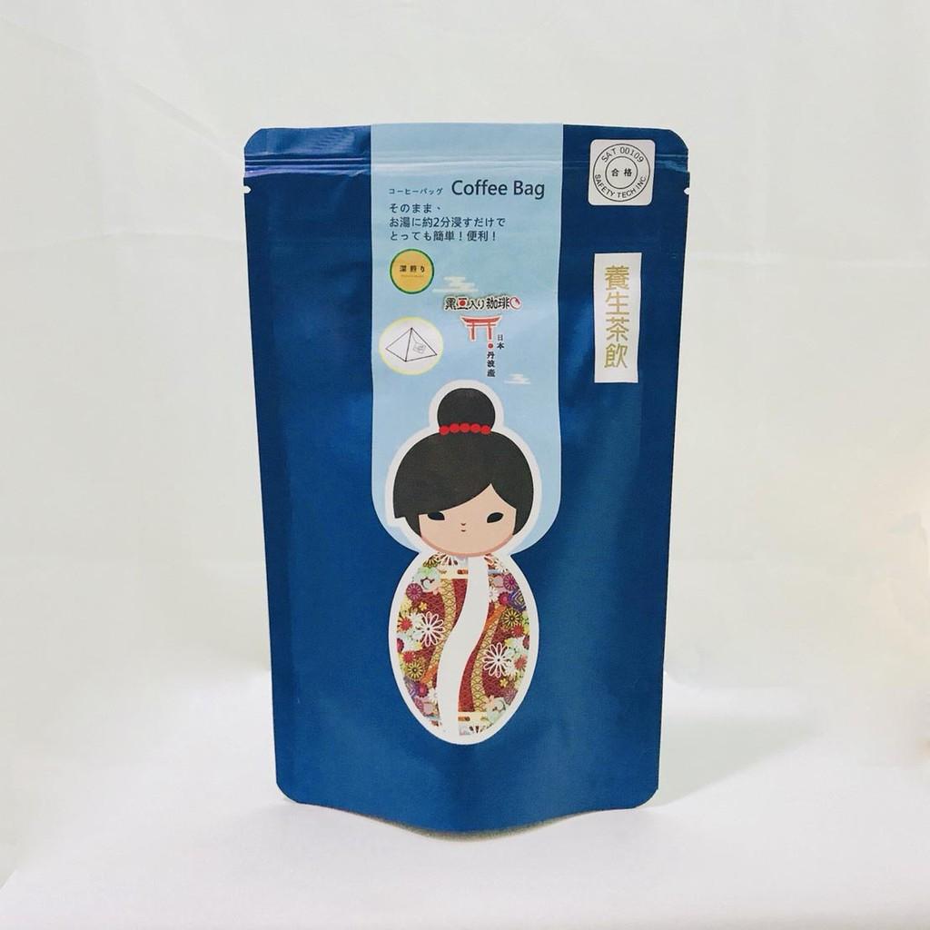 日本原裝 丹波黑豆咖啡養生茶飲 -三角立體浸泡咖啡包-深煎 (12包入)