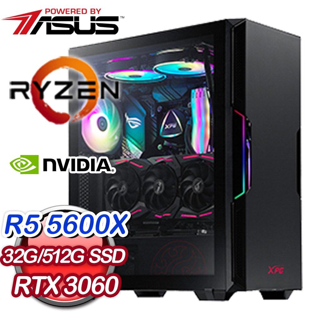 • 處理器:AMD Ryzen 5 5600X 六核心• 主機板:華碩 ROG STRIX B550-F GAMING(WI-FI)• 記憶體:DDR4 16G(2組)• 固態硬碟:威剛 XPG SX