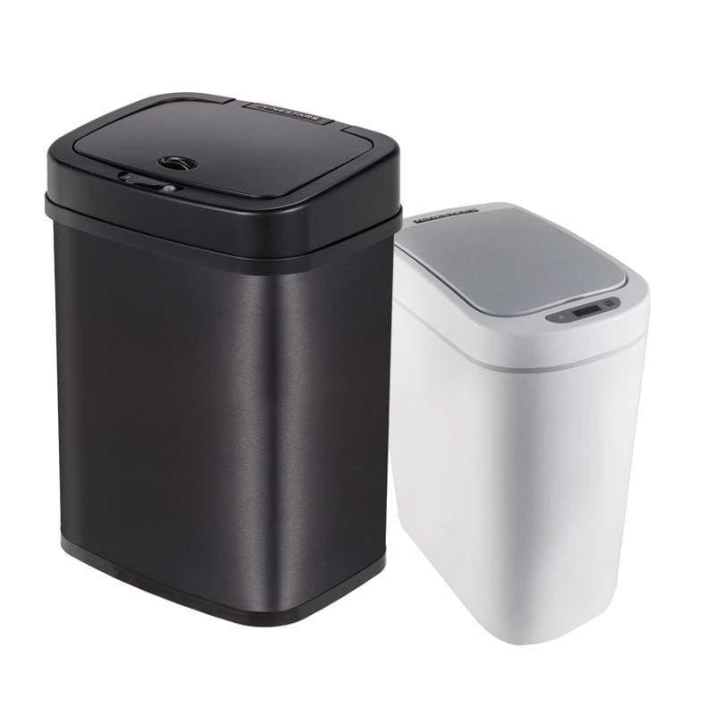 產品特色 放置於廚房、客廳等場所 紅外線感應,控制桶蓋的自動開啟和關閉 性能可靠、耗電量極低、分類垃圾 金屬拉絲質感外觀 避免接觸細菌,降低異味飄出 產品介紹 感應式掀蓋垃圾桶12公升 DZT-12-