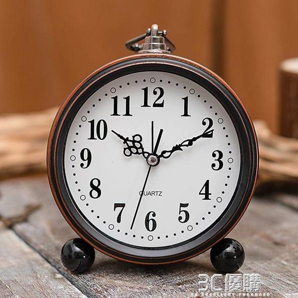 電子鬧鐘 座鐘時鐘擺件簡約創意個性學生專用床頭靜音卡通小 3C優購