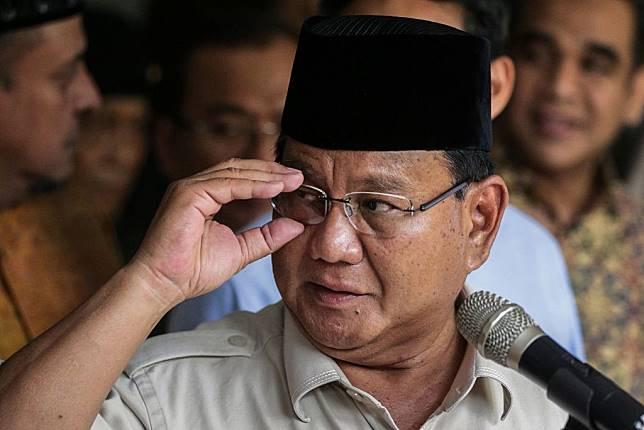 Calon Presiden nomor urut 02 Prabowo Subianto. (Foto: AFP/Naomi)