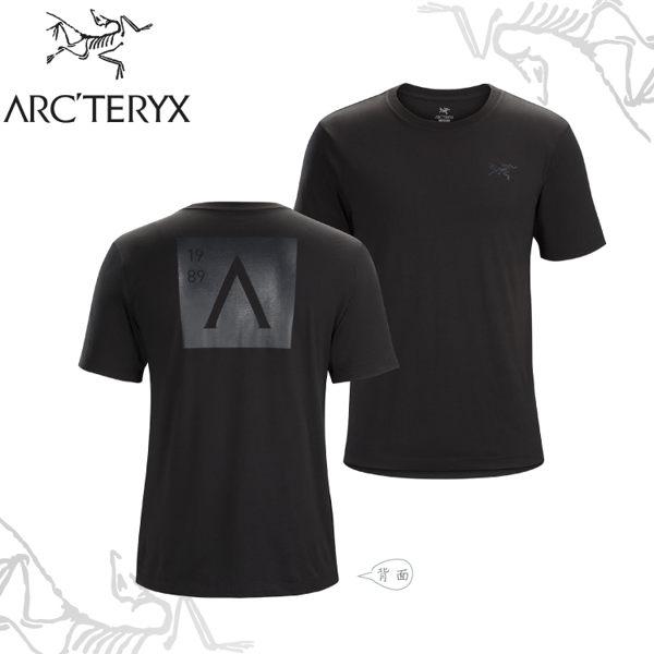 【ARC'TERYX 始祖鳥 男 A Squared休閒Tee《黑》】23184/短袖T恤/運動衫/透氣/吸濕排汗/有機棉/跑步