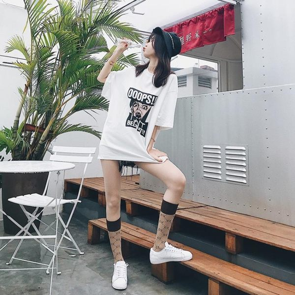 潮牌長襪女日系學院風中筒襪字母堆堆襪網紅高筒小腿襪純棉及膝襪
