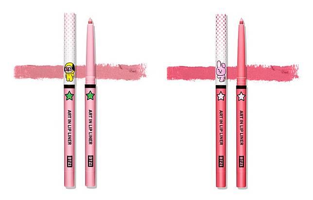 Art In Lip Liner唇筆以粉紅色為主調,是勾畫細緻唇形、遮蓋唇部瑕疵的好幫手。(互聯網)