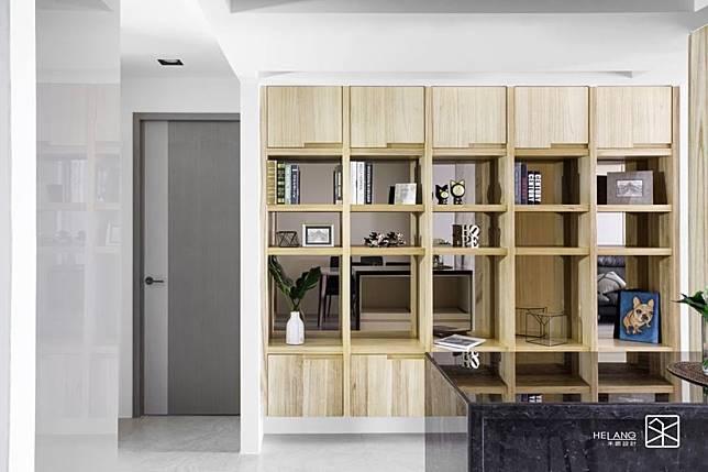 實木貼皮收納櫃