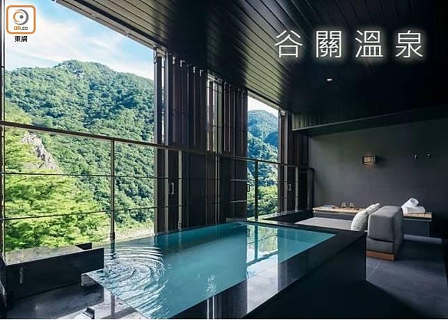 6月於台中開幕的谷關度假村,50間均以全室半露天風呂設計。(互聯網)
