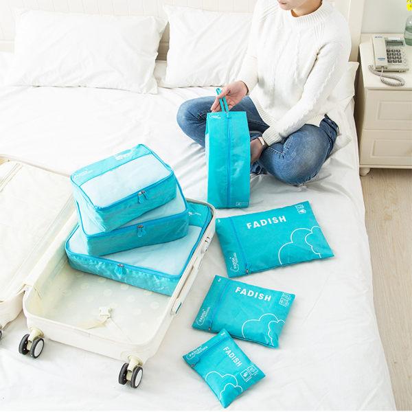 收納袋 旅行袋 旅行洗漱包收納包7件組《SV8041》快樂生活網