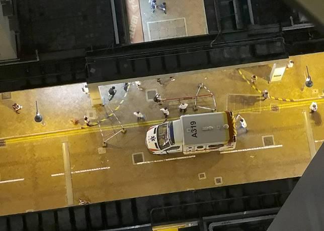 救護車接報到場。(互聯網)