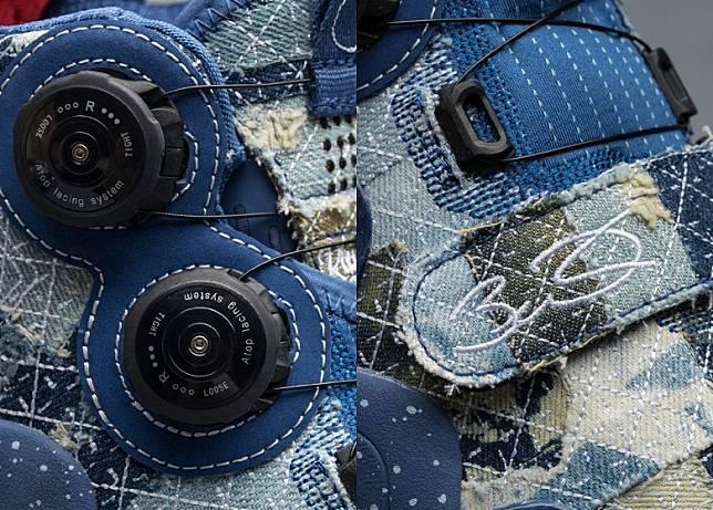 鞋身採用Atop Lacing System轉盤及魔術貼搭帶調節鬆緊度。(互聯網)