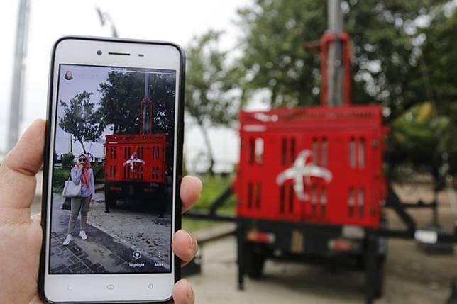 BTS bergerak atau mobile BTS Telkomsel/Telkomsel