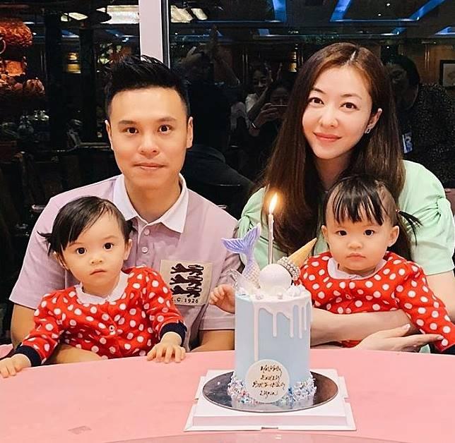 熊黛林上月39歲生日,有老公郭可頌和孖女為她慶生。