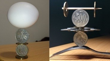 Twitter硬幣藝術師,用硬幣砌出的擺設
